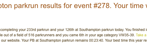Southampton parkrun 21 Oct 17