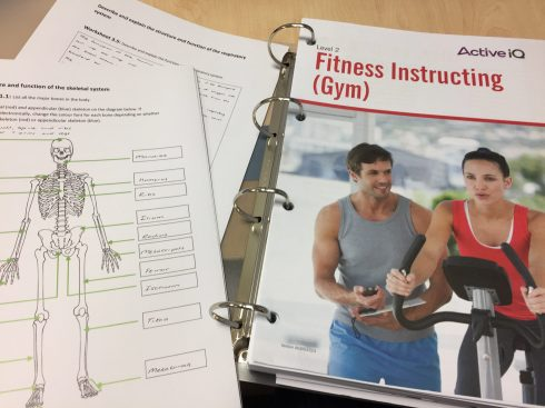 Fitness instructor course materials