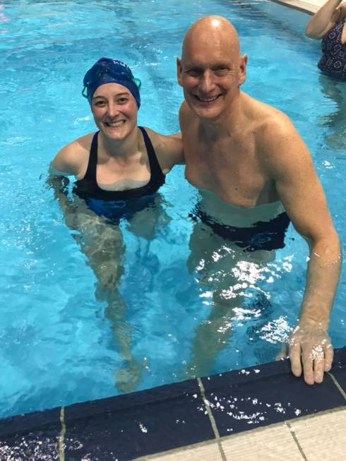 In the pool with Duncan Goodhew