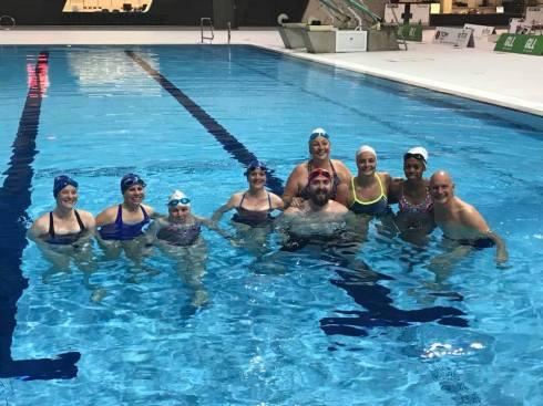 Swimathon ambassadors group pose