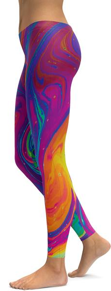 colourful splash leggings