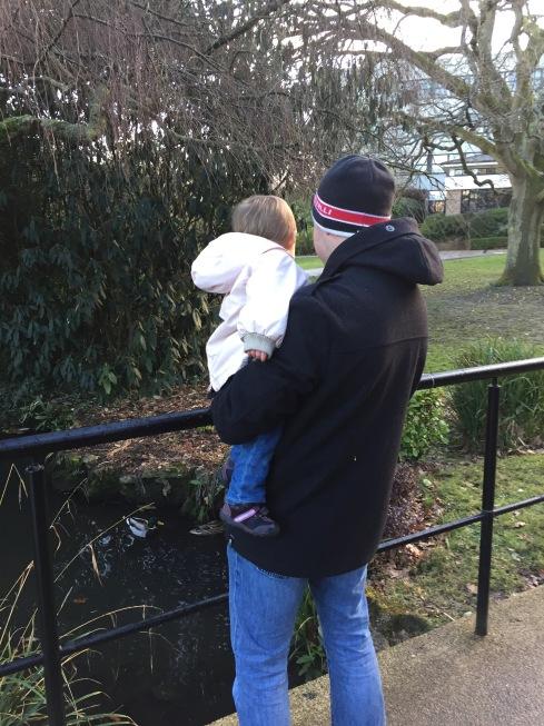 Stu and M watching the ducks