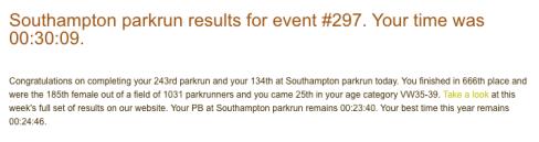 Southampton parkrun 17 Feb 2018