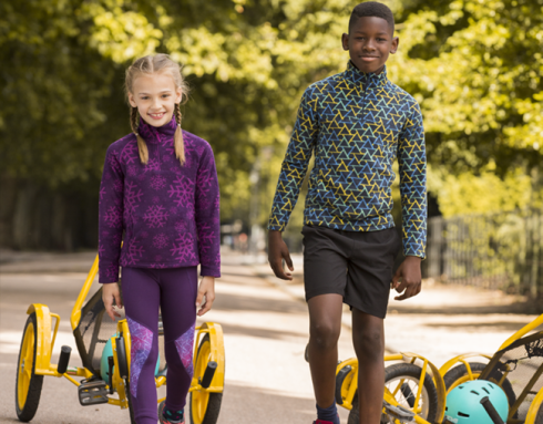 Children's running clothes